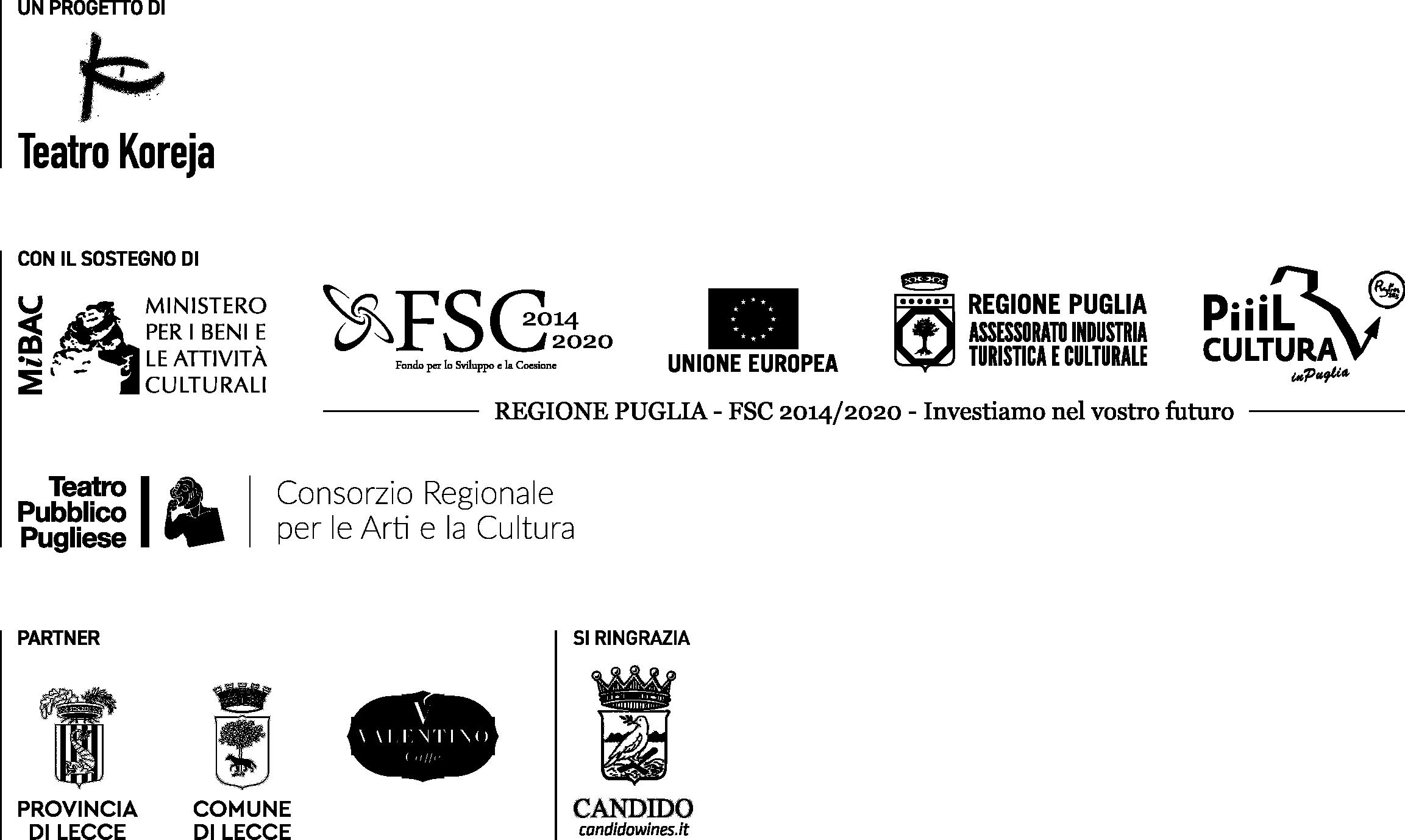credits rassegna Teatro in Tasca 2019/2020