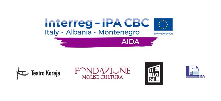 """credits progetto Project """"AIDA – Adriatic Identity through Development of Arts"""""""
